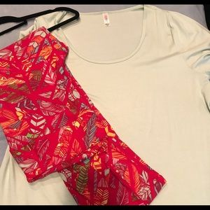 LuLaRoe TC leggings and 2XL Classic Top